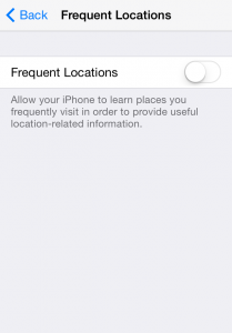iphone frequent locations