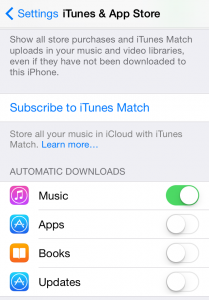iphone settings itunes and apps