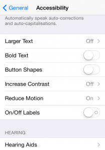 iphone settings accessibility