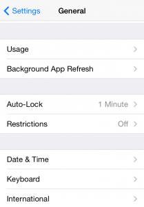 iphone settings general