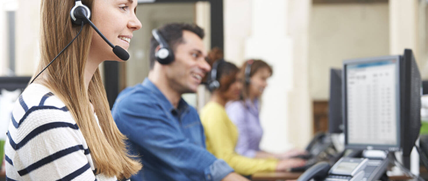 Call centre support workers