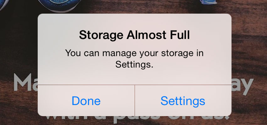 iphone storage problem